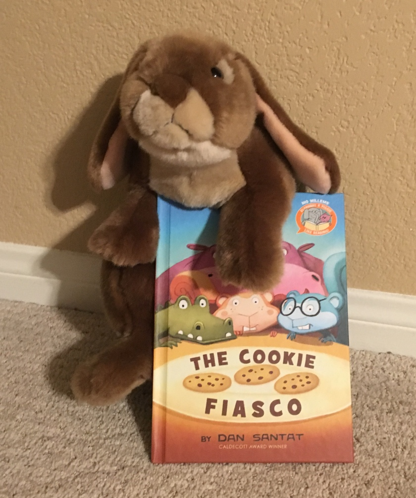 Caramel really enjoyed reading The Cookie Fiasco by Dan Santat and is looking forward to reading other Elephant and Pigggie Like Reading books.