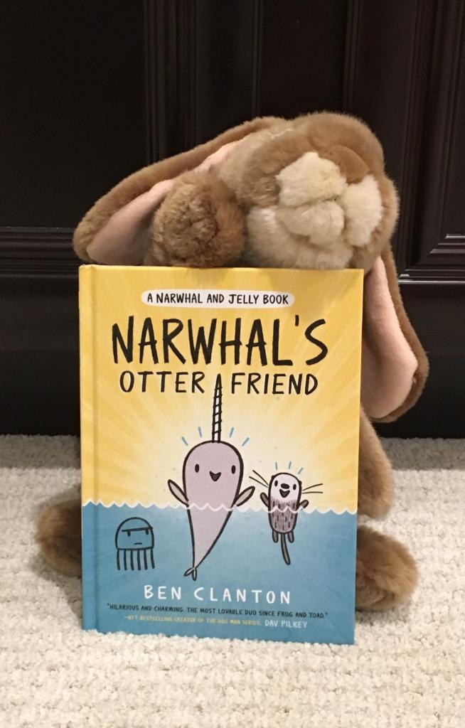 Caramel really enjoyed Narwhal's Otter Friend!