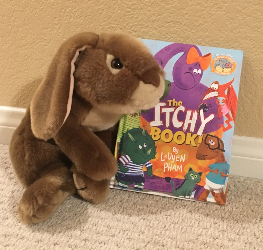Caramel enjoyed reading The Itchy Book by LeUyen Pham.