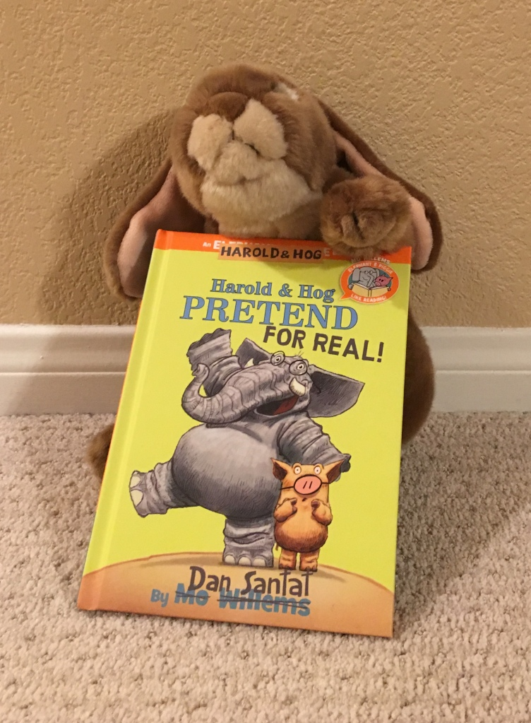 Caramel really enjoyed reading Harold and Hog Pretend for Real! by Dan Santat.
