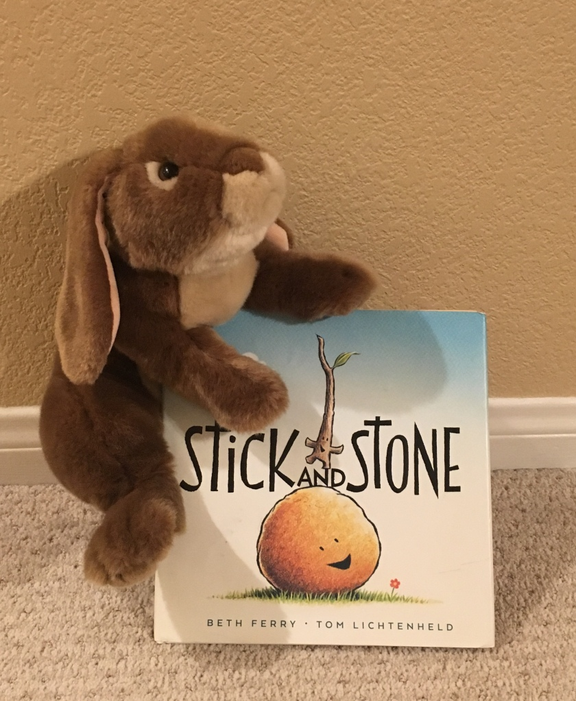 Caramel has been enjoying reading and rereading Stick and Stone by Beth Ferry and Tom Lichtenheld.