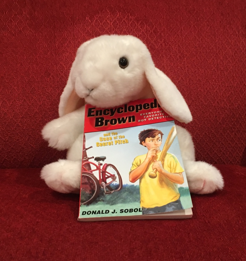 Encyclopedia Brown and the Case of the Secret Pitch is Marshmallow's favorite among the four.