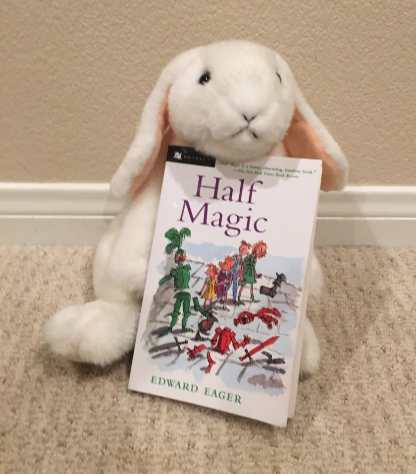 Marshmallow reviews Half Magic by Edward Eager.