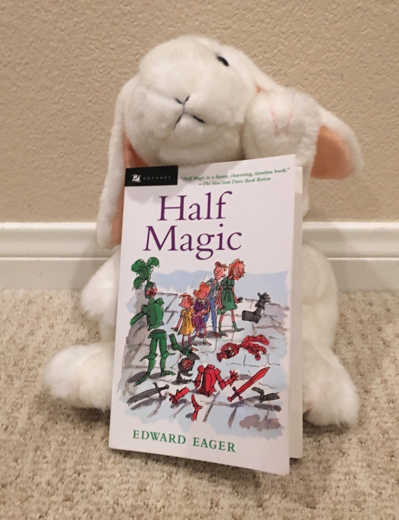 "Marshmallow rates Half Magic by Edward Eager 100%. And she adds: ""May the Fourth Be With You!"""
