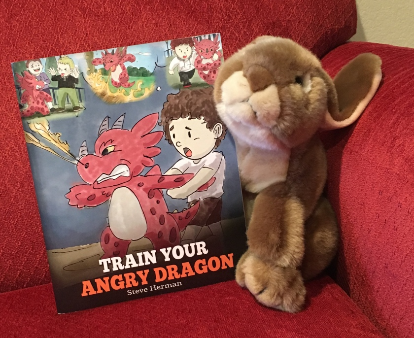 Caramel reviews Train Your Angry Dragon by Steve Herman.