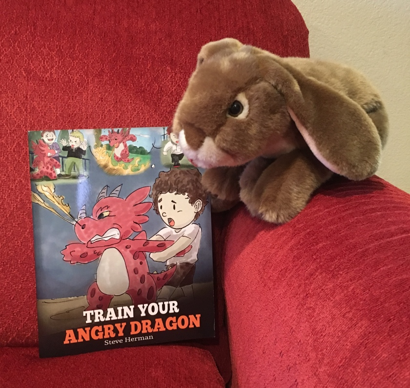 Caramel pledges to try to think happy thoughts the next time he feels upset or angry, trying out one of the tricks in the book Train Your Angry Dragon by Steve Harmon.