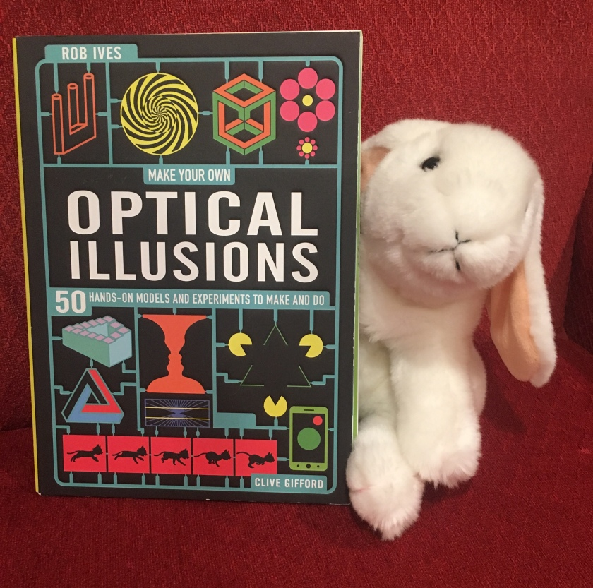Marshmallow reviews Make Your Own Optical Illusions: 50 Hands-On Models and Experiment to Make and Do by Clive Gifford and Rob Ives.