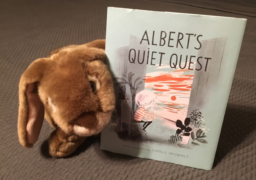 Caramel reviews Albert's Quiet Quest by Isabelle Arsenault.
