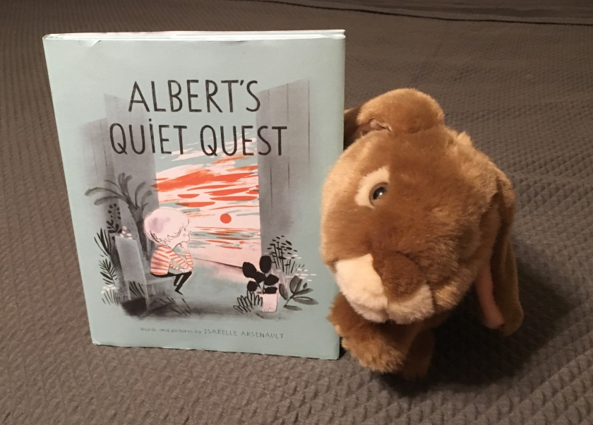 Caramel really enjoyed reading Albert's Quiet Quest by Isabelle Arsenault.