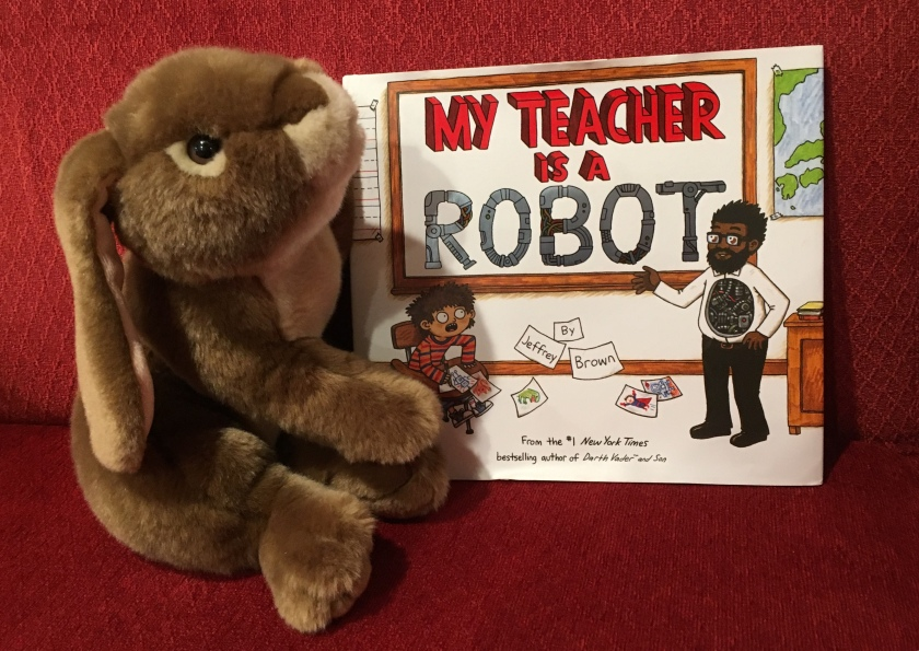 Caramel reviews My Teacher is a Robot by Jeffrey Brown.