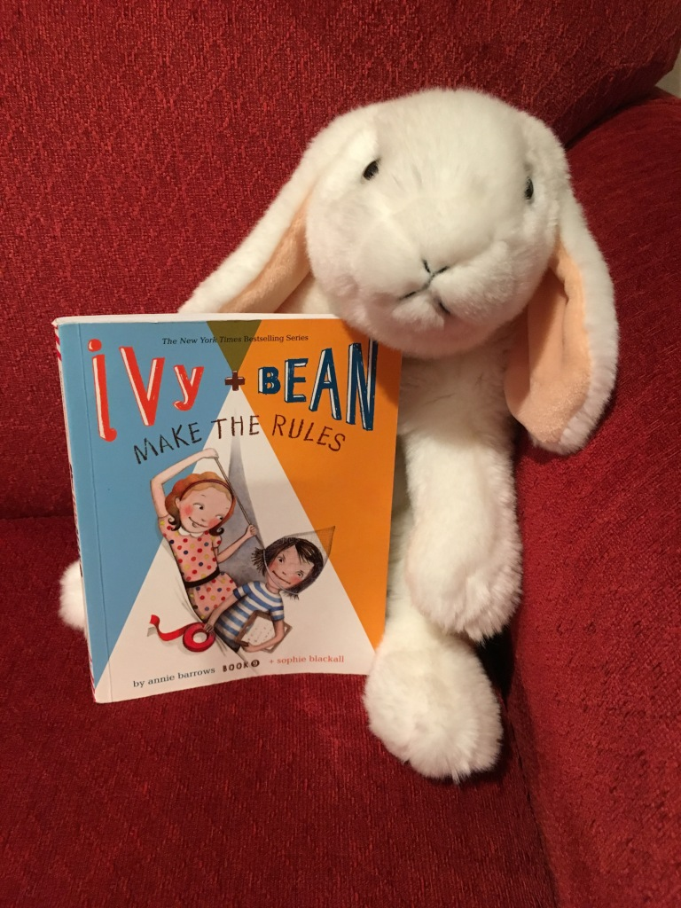 Marshmallow reviews Ivy and Bean Make the Rules (Book 9 of the Ivy + Bean series) written by Annie Barrows and illustrated by Sophie Blackall.