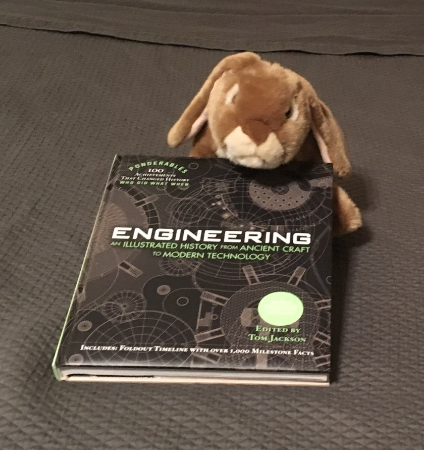 Caramel really enjoys reading sections from Engineering: An Illustrated History from Ancient Craft to Modern Technology, edited by Tom Jackson.