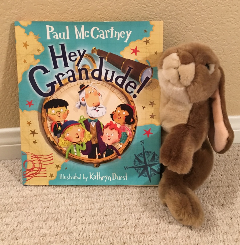 Caramel reviews Hey Grandude! written by Paul McCartney and illustrated by Kathryn Durst.