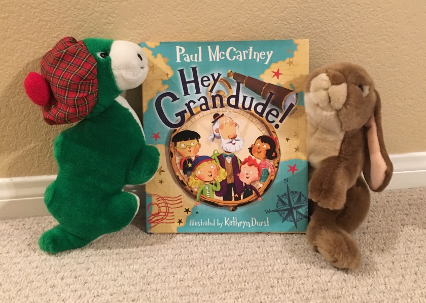 Caramel and The Loch Ness Monster really enjoyed reading Hey Grandude! by Paul McCartney and Kathryn Durst.