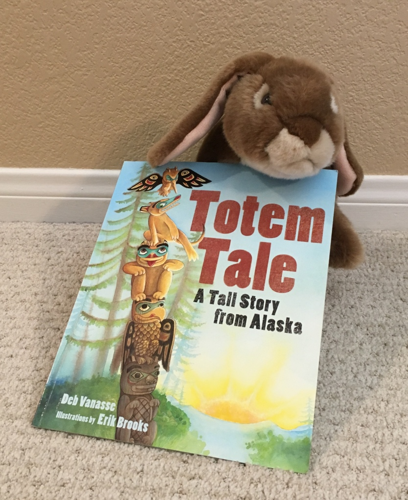 Caramel reviews Totem Tale: A Tall Story from Alaska written by Deb Vanasse and illustrated by Erik Brooks.