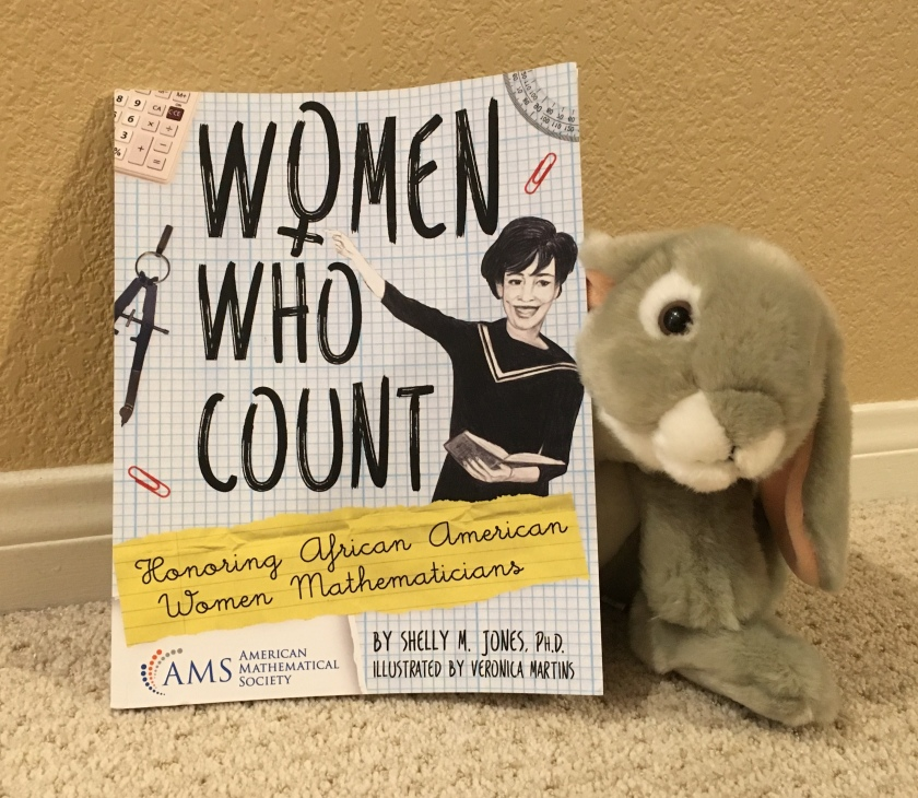 Sprinkles enthusiastically recommends Women Who Count: Honoring African American Women Mathematicians, written by Shelly M. Jones and illustrated by Veronica Martins.