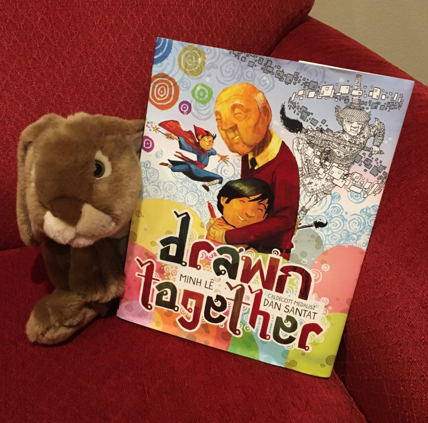 Caramel reviews Drawn Together, written by Minh Le and illustrated by Dan Santat.