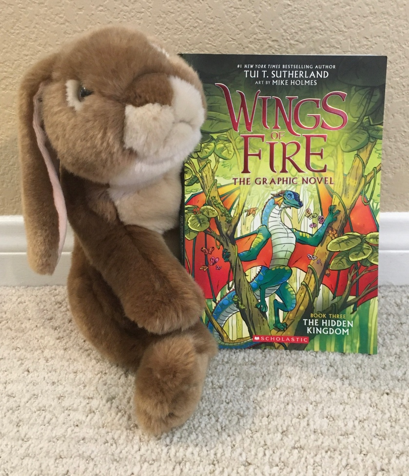 Caramel reviews The Hidden Kingdom (Book Three of Wings of Fire) by Tui Sutherland and Mike Holmes.