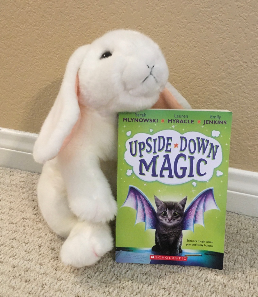 Marshmallow reviews Upside-Down Magic by Sarah Mlynowski, Lauren Myracle, and Emily Jenkins.