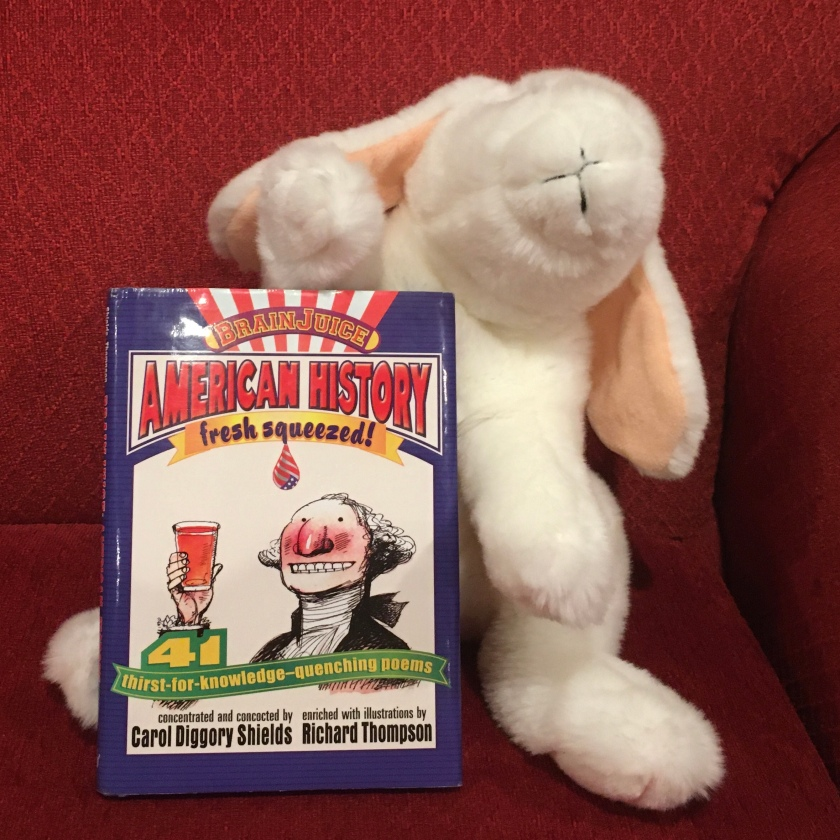 Marshmallow rates BrainJuice: American History, Fresh Squeezed! written in poetic form by Carol Diggory Shields and illustrated by Richard Thompson 95%.