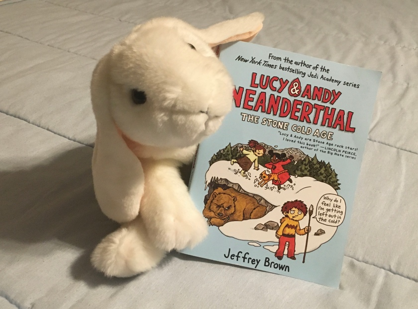 Marshmallow reviews Lucy and Andy Neanderthal: Stone Cold Age by Jeffrey Brown.