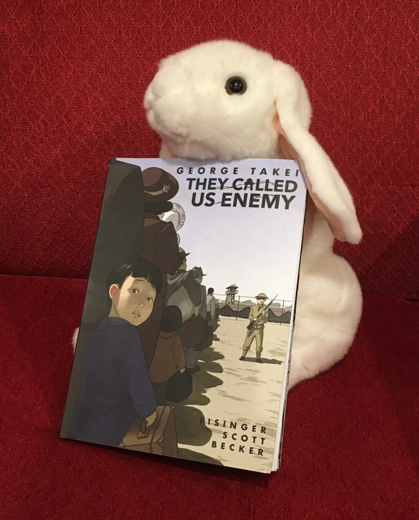 Marshmallow reviews They Called Us Enemy, written by the Star Trek veteran George Takei together with Justin Eisinger and Steven Scott, and illustrated by Harmony Becker.