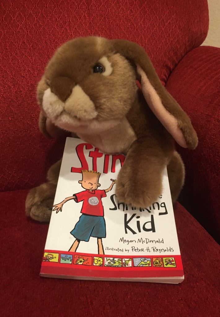 Caramel has enjoyed reading Stink: The Incredible Shrinking Kid, written by Megan McDonald and illustrated by Peter H. Reynolds.