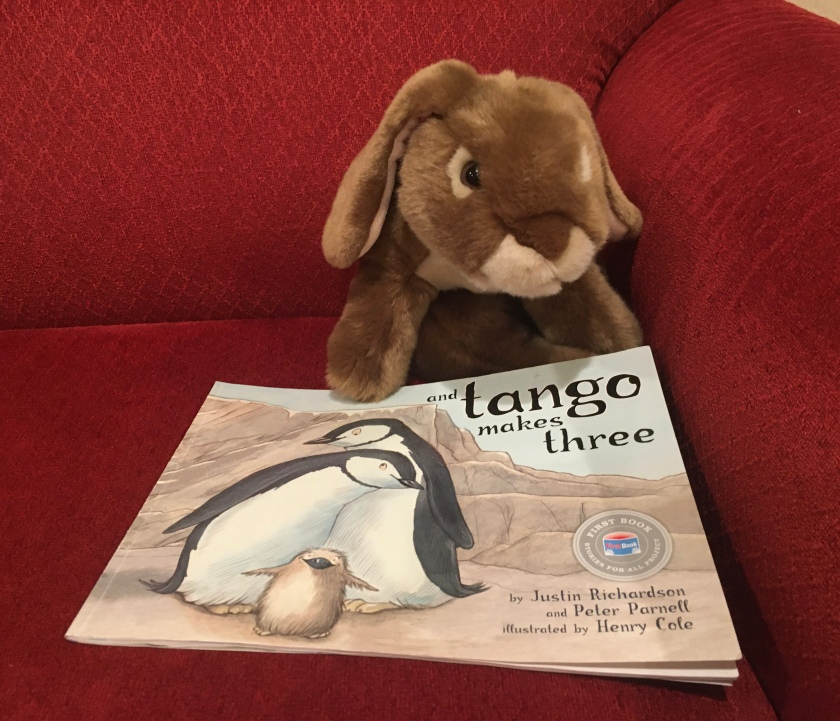 Caramel reviews And Tango Makes Three, written by Peter Parnell and Justin Richardson, and illustrated by Henry Cole.