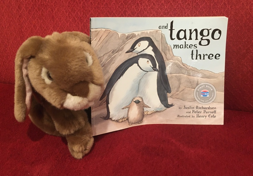 Caramel has enjoyed reading And Tango Makes Three, written by Peter Parnell and Justin Richardson, and illustrated by Henry Cole.