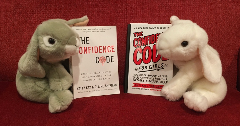 Both Marshmallow and Sprinkles enjoyed reading their respective books on the Confidence Code, written by Katty Kay and Claire Shipman, and learned a lot.