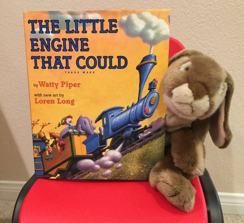Caramel recommends The Little Engine That Could, by Watty Piper, with new art by Loren Long, to all little bunnies and their big people.