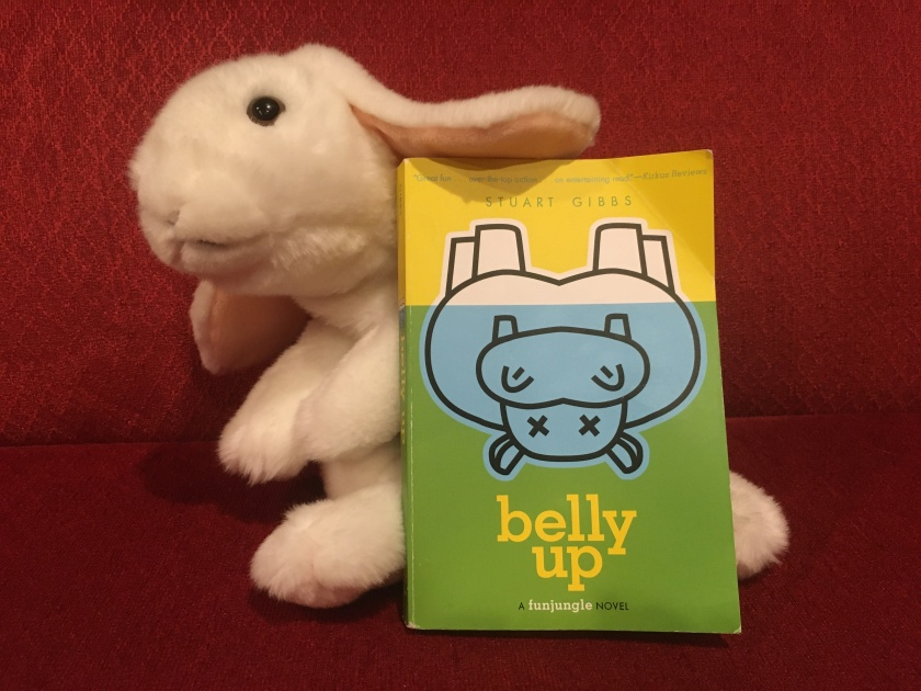 Marshmallow reviews Belly Up by Stuart Gibbs.