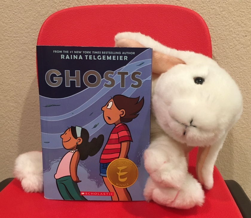 Marshmallow rates Ghosts by Raina Telgemeier 95%.