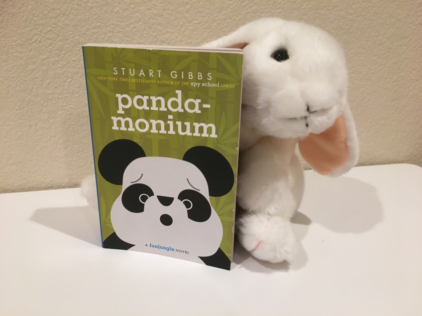 Marshmallow reviews Panda-monium by Stuart Gibbs, the fourth book in the FunJungle series.