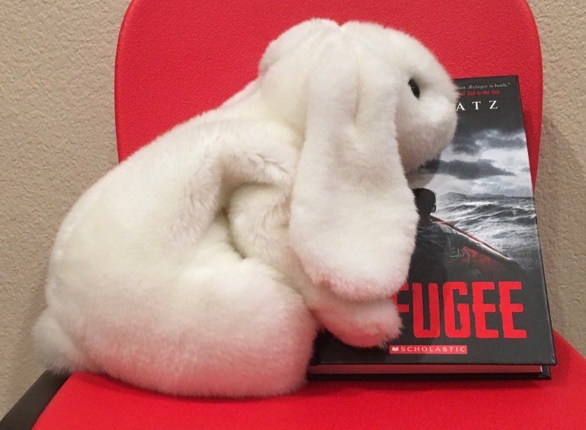 Marshmallow rates Refugee by Alan Gratz 100% (though it is definitely not a happy book).