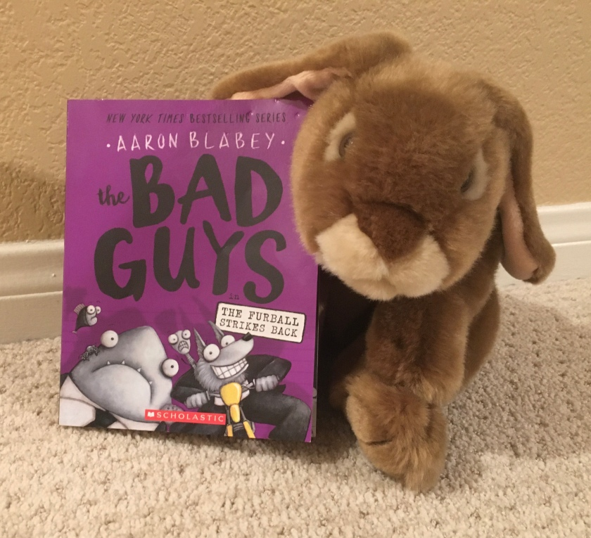 Caramel reviews The Bad Guys in The Furball Strikes Back by Aaron Blabey (Bad Guys #3).