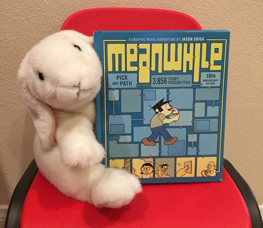 Marshmallow reviews Meanwhile: Pick Any Path. 3,856 Story Possibilities, by Jason Shiga.
