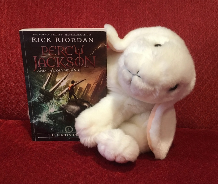 Marshmallow reviews Percy Jackson and the Olympians: The Lightning Thief (Book 1 of the Percy Jackson Series) by Rick Riordan.