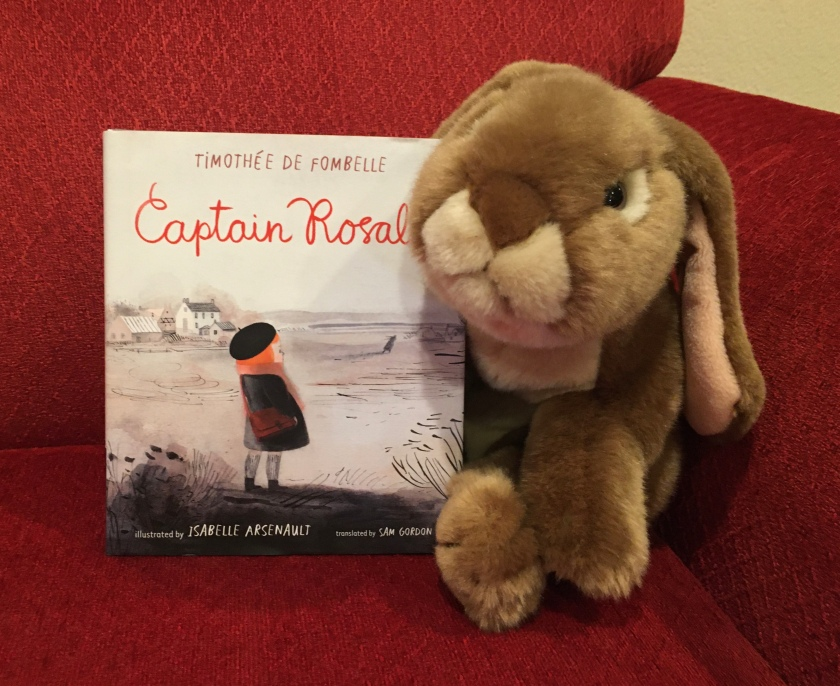 Caramel really liked Captain Rosalie, written by Timothee De Fombelle and illustrated by Isabelle Arsenault, and recommends it to other little bunnies.
