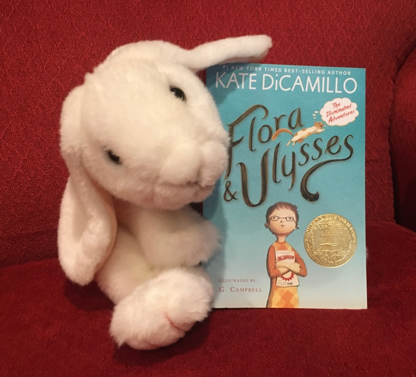 Marshmallow reviews Flora and Ulysses by Kate DiCamillo.