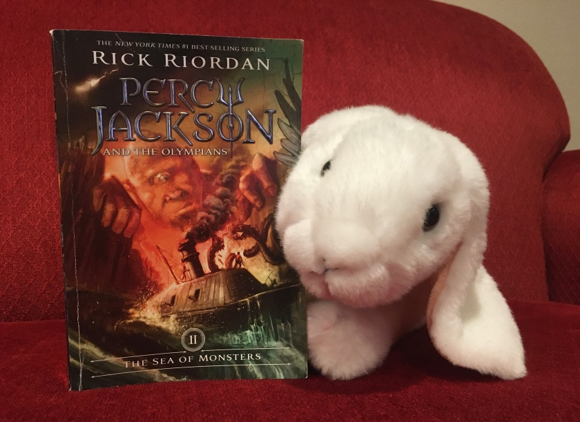 Marshmallow reviews Percy Jackson and the Olympians: The Sea of Monsters (Book 2 of the Percy Jackson Series) by Rick Riordan.