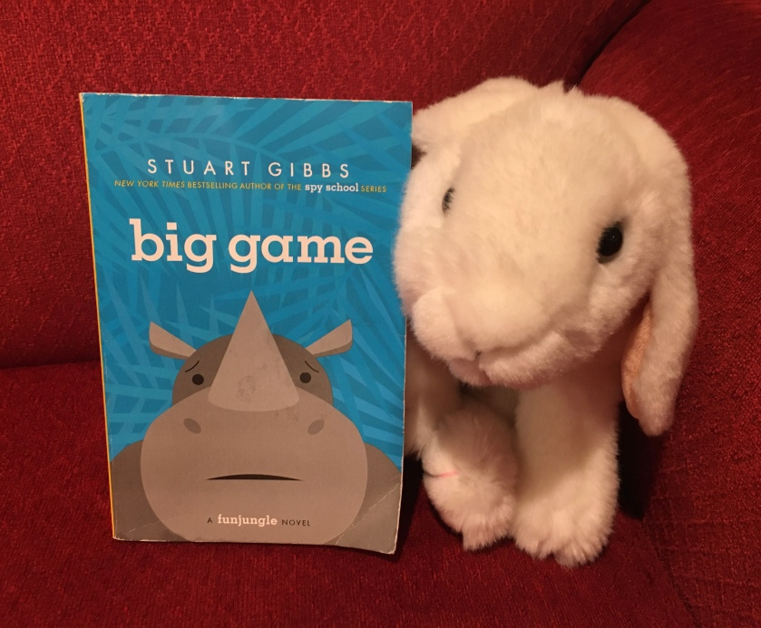 Marshmallow reviews the third book, Big Game, in the FunJungle series by Stuart Gibbs.