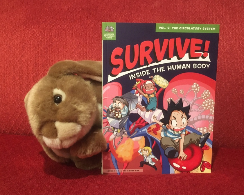 Caramel enjoyed reading Survive! Inside the Human Body: The Circulatory System by Hyun-Dong Han, and recommends it to all bunnies interested in learning about the human body.