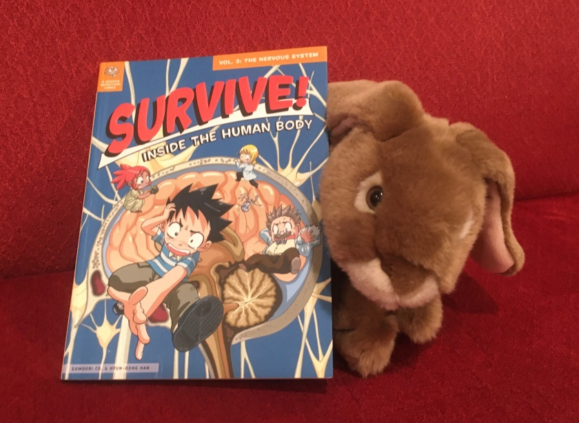 Caramel has really enjoyed Survive! Inside the Human Body: The Nervous System by Hyun-Dong Han, and recommends the whole series to all little bunnies.