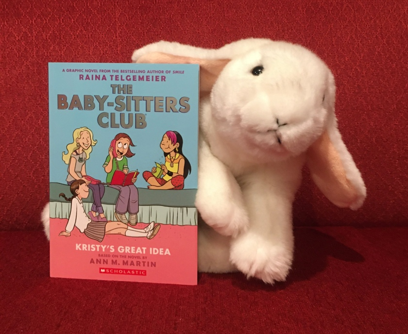 Marshmallow reviews Kristy's Great Idea (The Baby-Sitters Club Graphic Novels #1) by Ann M. Martin and Raina Telgemeier.