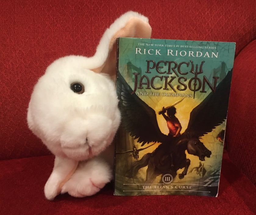 Marshmallow reviews Percy Jackson and the Olympians: The Titan's Curse (Book 3 of the Percy Jackson Series) by Rick Riordan.