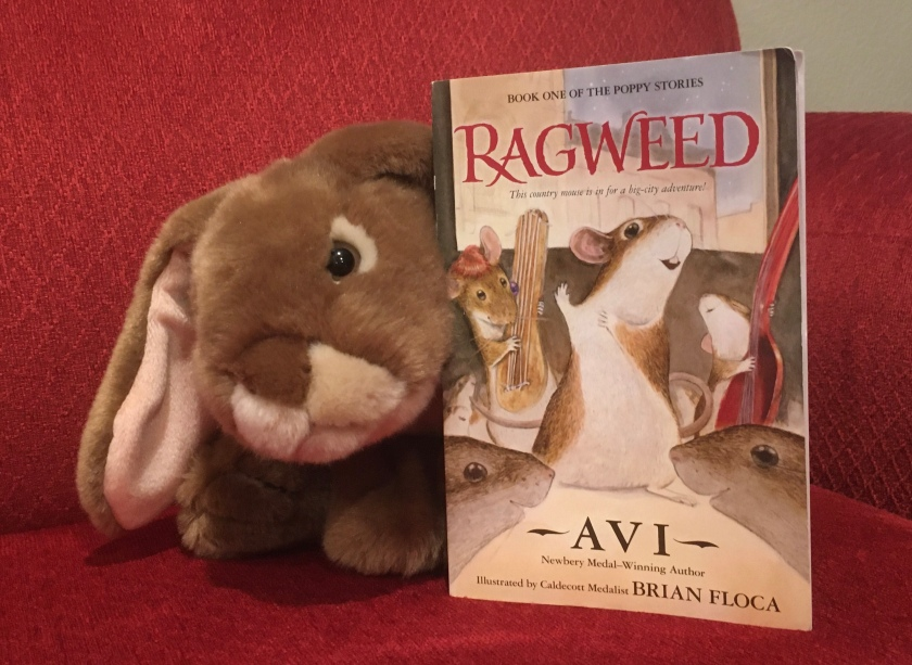Caramel enjoyed reading Ragweed, written by Avi and illustrated by Brian Floca.