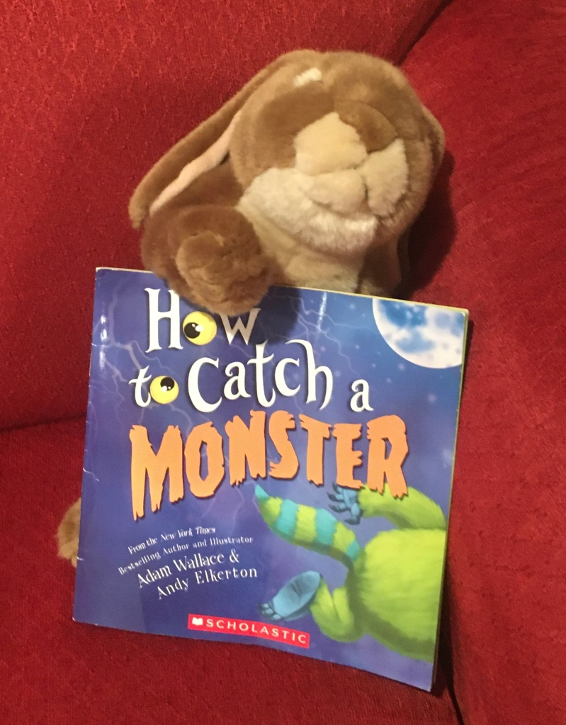 Caramel has enjoyed reading How to Catch a Monster by Adam Wallace and Andy Elkerton, and recommends it to all little bunnies who love monsters and those others who are scared of the monster in their closets.