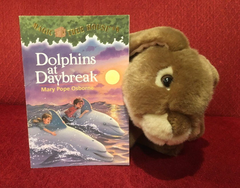 Caramel enjoyed reading Dolphins at Daybreak (Magic Tree House #9) by Mary Pope Osborne and recommends it to all little bunnies who enjoyed reading about Jack and Annie's earlier adventures.