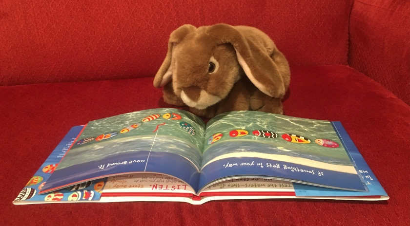 "Caramel is reading Only One You by Linda Kranz: ""If something gets in your way, move around it."""